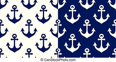 vector de anclaje sin costura, azul marino antecedentes repetitivos, papel tapiz costero o diseño textil
