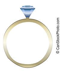 Vector de anillo de diamantes