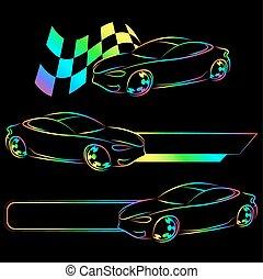 Vector de auto símbolo