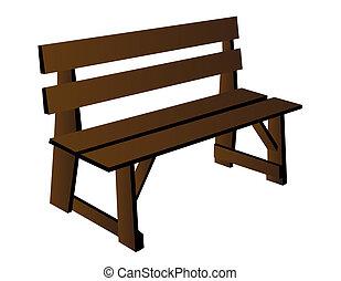 Vector de banco de madera