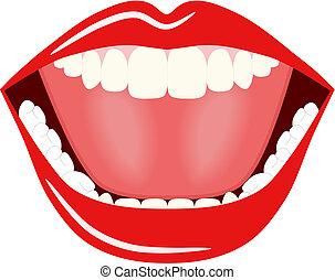 Vector de boca grande