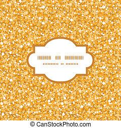 Vector de brillo dorado brillante textura marco de fondo sin estructura