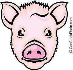 Vector de cabeza de cerdo
