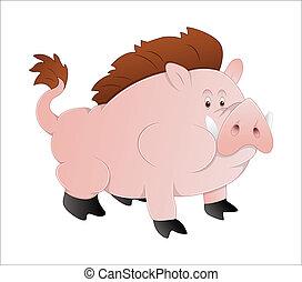 Vector de cerdo