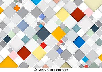 Vector de color abstracto cuadrado retro - fondo moderno