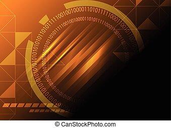 vector de concepto de tecnología abstracta