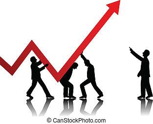 Vector de conceptos de negocios