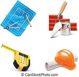 Vector de construcción de casas e innovación. 3