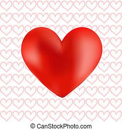 Vector de corazón rojo