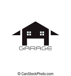 Vector de decoración del garaje