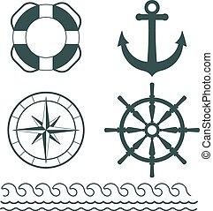 Vector de decoración náutica