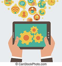 Vector de desarrollo de aparatos móviles