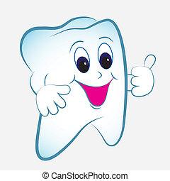 Vector de dientes de cartón
