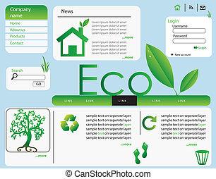 Vector de diseño de Ecología