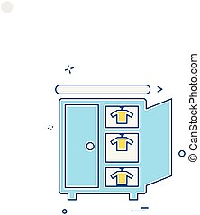 Vector de diseño de iconos de muebles caseros