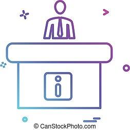 Vector de diseño de iconos de recepción