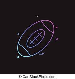 Vector de diseño de iconos Rugby