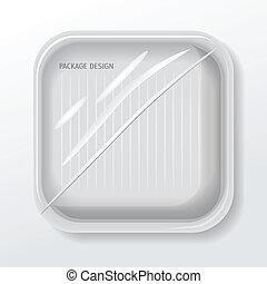 Vector de diseño de paquetes, EPS 10