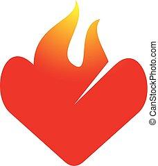 Vector de diseño del logo de fuego