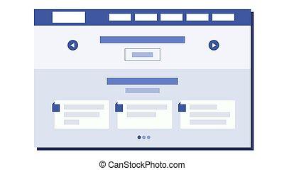 Vector de diseño plano web. Arquitectura web. Diseño de páginas web. Ilustración