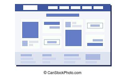 Vector de diseño plano web. Plan de página. Codificación. Desarrollo Web. Planta web. Ilustración