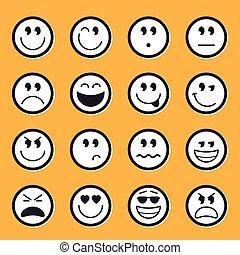 Vector de emoticonos