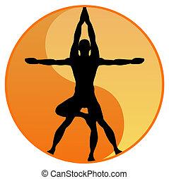 Vector de equilibrio de yoga