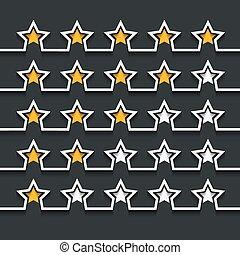 Vector de estrellas modernas puestas en negro
