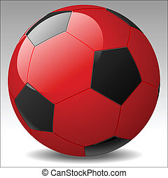 Vector de fútbol rojo