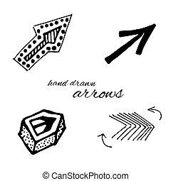 Vector de flechas Doodle fijado