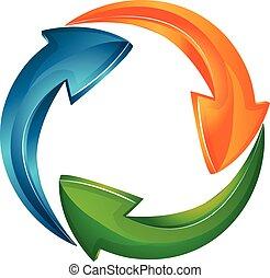 Vector de flechas logotipo de negocios