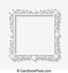 Vector de fondo de marco blanco