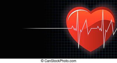 Vector de fondo del corazón y del corazón
