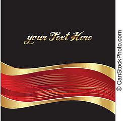 Vector de fondo dorado y rojo
