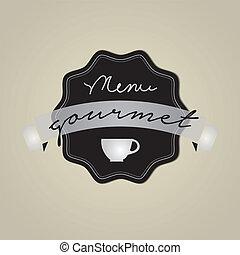Vector de fotograma de Gourmet, EPS 10