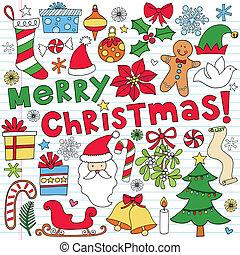 Vector de garabatos de Navidad