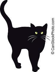 Vector de gato negro