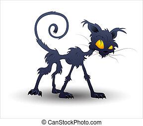 Vector de gatos de Halloween