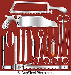 Vector de herramientas quirúrgicas