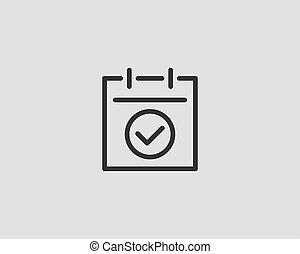 Vector de icono de Calendar diseño de línea plana