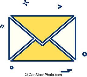 Vector de icono de correo electrónico
