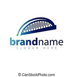Vector de icono de logo del puente