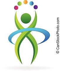 vector de icono de logotipo de persona