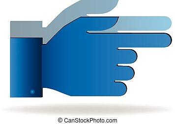 Vector de icono de mano puntero