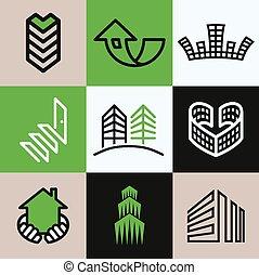 Vector de iconos de construcción listo