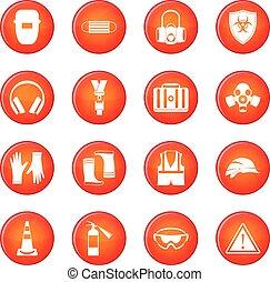 Vector de iconos de seguridad fijado
