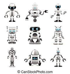 Vector de iconos robot listo