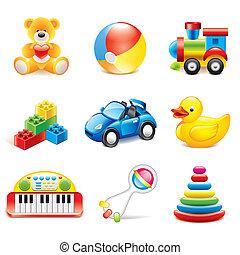 Vector de juguetes coloridos