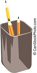 Vector de lápiz en un fondo blanco.