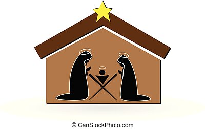 Vector de la escena de Navidad